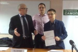 Марченко і Еделєв під час підписання меморандуму